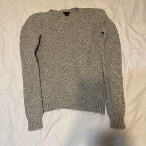 Theory Crewneck Knit Sweater, Grey, Size M, EUC
